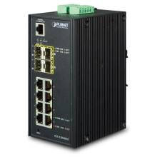 Planet IGS-12040MT Industrial 8-Port 10/100/1000T + 4-Port 100/1000X SFP Managed Switch
