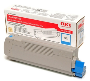 Mực in Oki C5600 Cyan Toner Cartridge