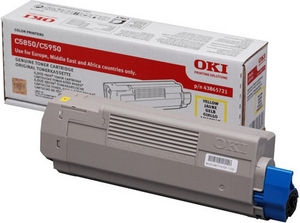 Mực in Oki C5850 Yellow Toner Cartridge